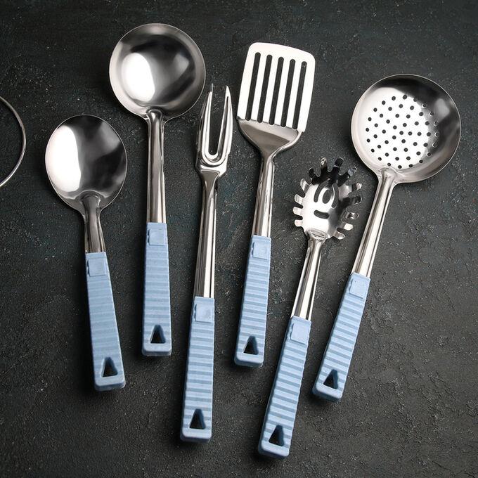 Набор кухонных принадлежностей «Моренс», 6 предметов, на подставке