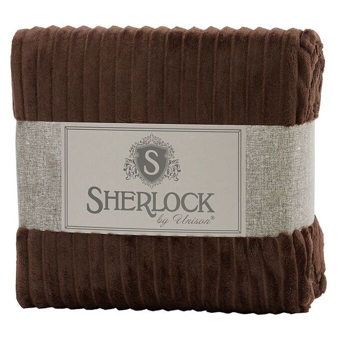 "Плед микрофибра рельеф ""Sherlock"" 200x220 шоколадный"