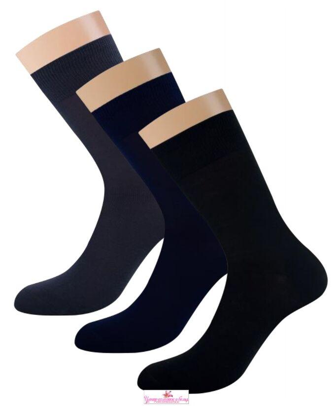 Классические мужские носки из мерсеризованного хлопка без рисунка