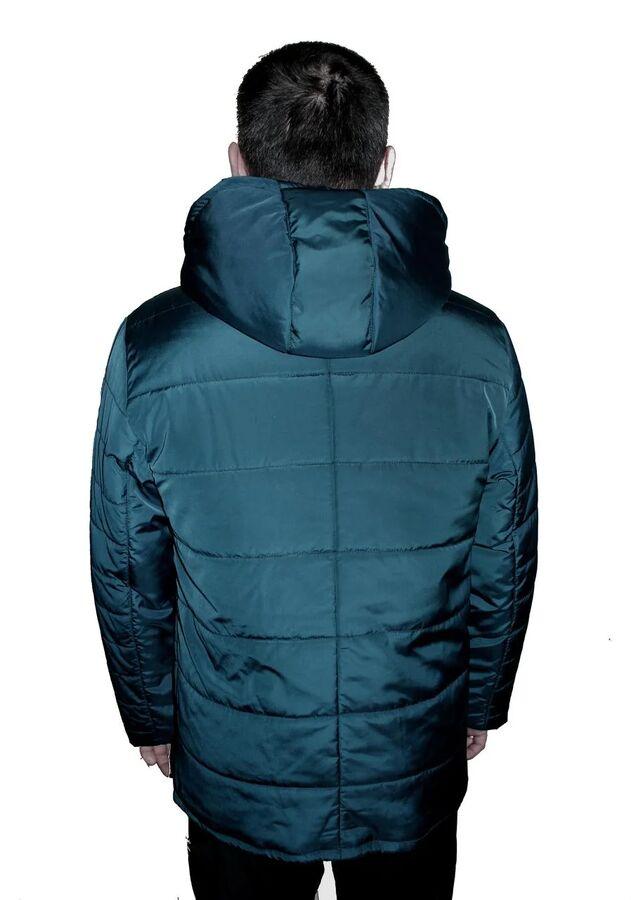 Стильная демисезонная мужская куртка со съемным капюшоном Код: 03 малахит