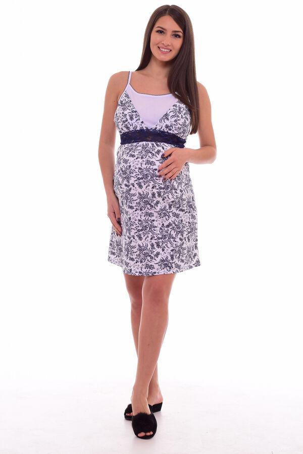 Сорочка женская 13-03д Для кормящих мам (белый+чёрный)