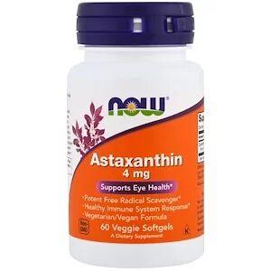 Now Foods, Астаксантин, 4 мг, 60 растительных кап