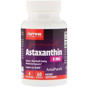 Jarrow Formulas, Астаксантин, 4 мг, 60 кап