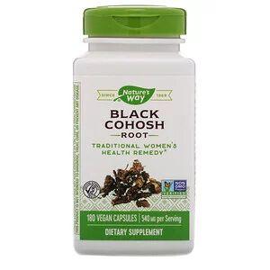 Nature's Way, Корень клопогона кистеносного, 540 мг, 180 вегетарианских кап.