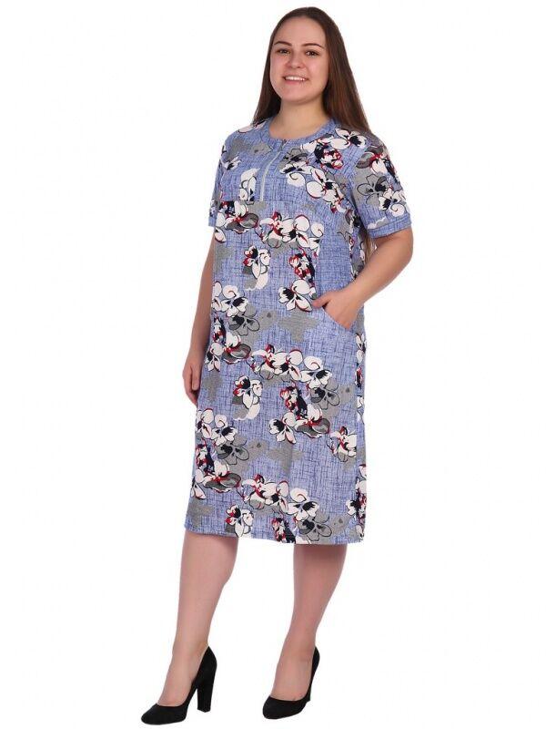 Цветочное платье нежного цвета БН5