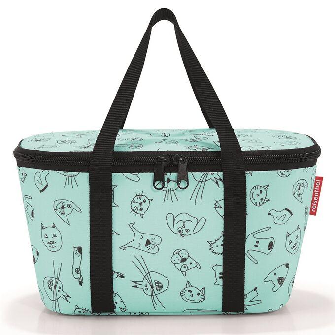 Термосумка детская Coolerbag XS cats and dogs mint