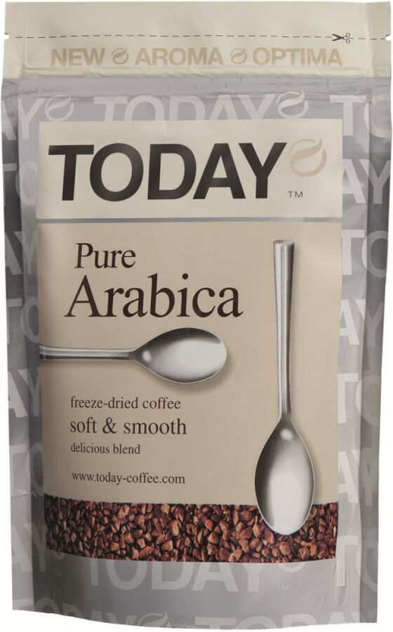 Кофе Today Pure Arabica субл. м/у 75г 1/12, шт