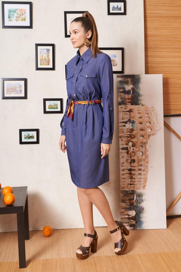 Платье 2324 джинс в Хабаровске