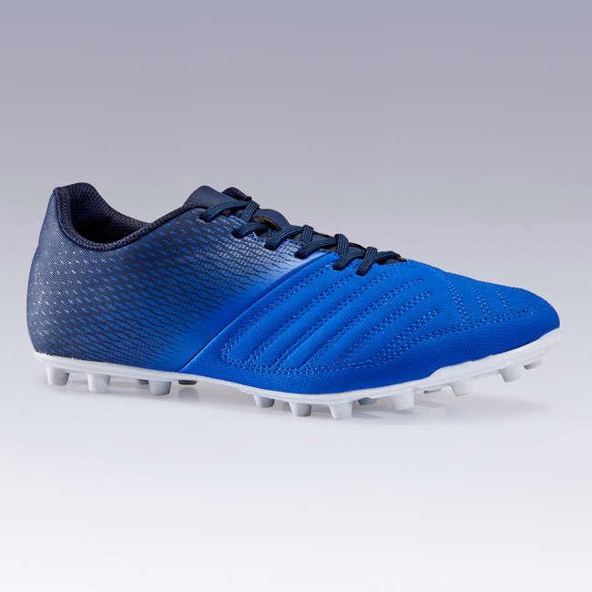 Бутсы футбольные для взрослых для сухих покрытий синие Agility 140 FG KIPSTA