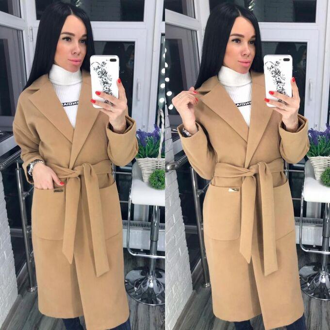 Пальто Длина изделия: Пальто. Отличный выбор для женского гардероба. Пояс является аксессуаром и может не входить в комплект, либо может быть заменен на другой, в зависимости от наличия на складе Сост