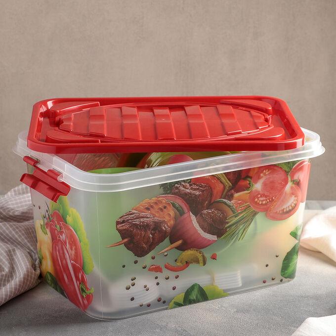 Набор для пикника на 6 персон «Гурман», контейнер 15 л