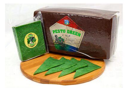 Сыр Песто Зеленый 45% (базилик+чеснок) 1кг Беларусь