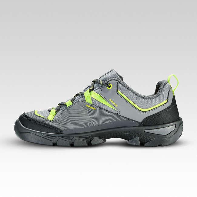 Ботинки для походов детские с низким верхом на шнуровке MH120 LOW, размеры 35–38 QUECHUA