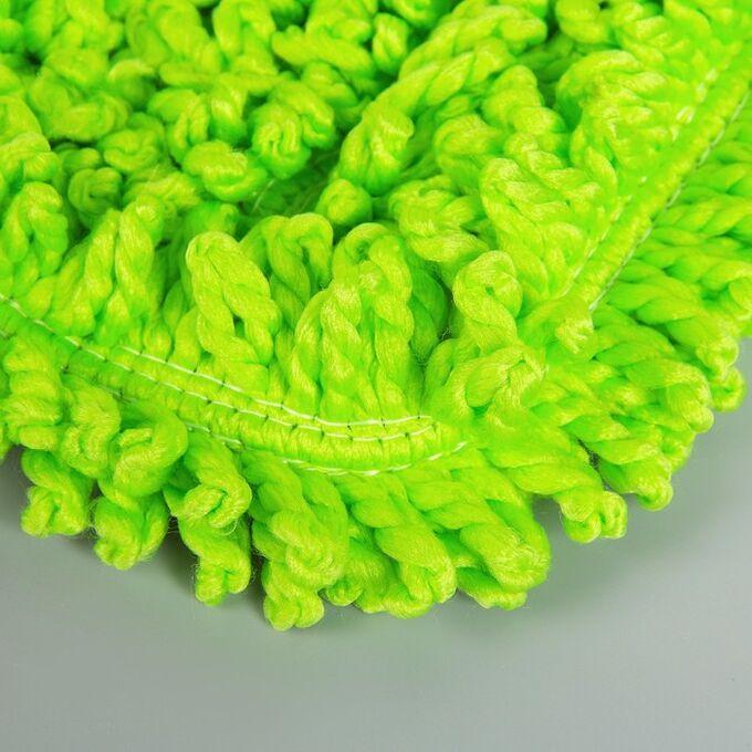 Насадка для плоской швабры Доляна, 40?10 см, микрофибра, цвет МИКС