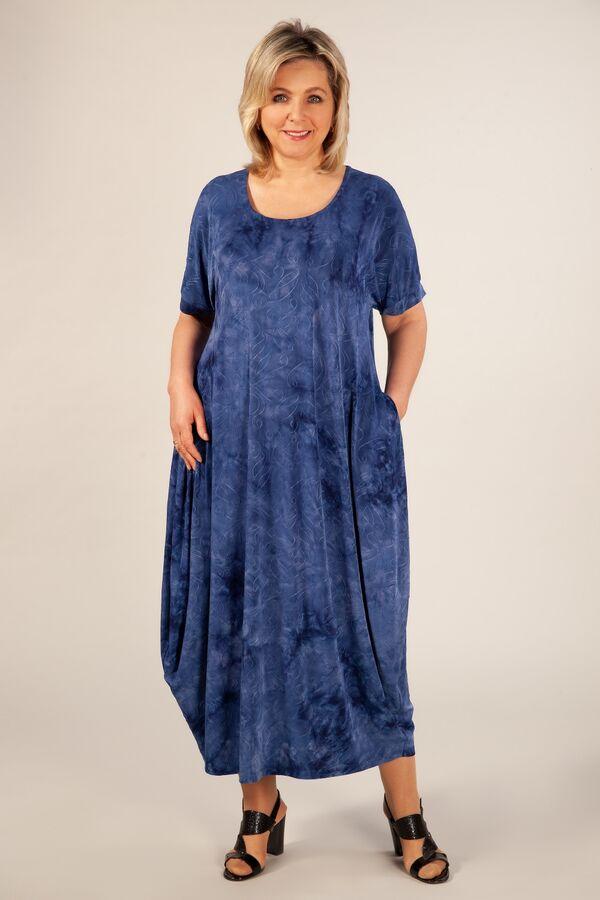 Платье темно-серый, синий,  Летнее платье, в стиле «бохо», тренд текущего сезона. Выполнено из лёгкого трикотажного полотна.Рукав цельнокроенный, горловина округлая, по бокам карманы. Сейчас бохо – эт