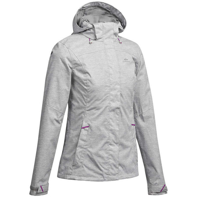 Женская куртка для горных походов MH100 водонепроницаемая QUECHUA
