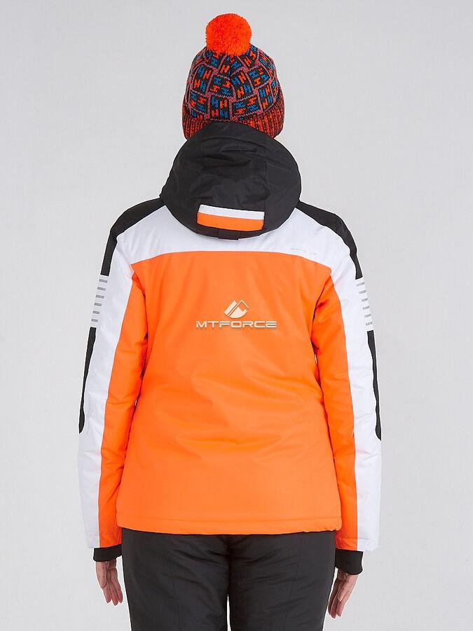 Женский зимний костюм горнолыжный оранжевого цвета 019601O