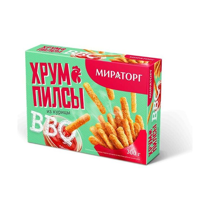Хрумпилсы из курицы Bbq, замороженные, картон, Мираторг, 250г