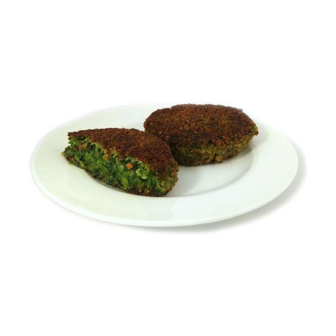 Котлеты из брокколи и шпината, замороженные, на подложке, 4 шт, 400г