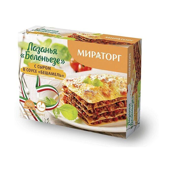 Лазанья БОЛОНЬЕЗЕ с сыром в соусе БЕШАМЕЛЬ, Мираторг, 285г