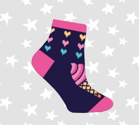 Носки детские фиолетовый