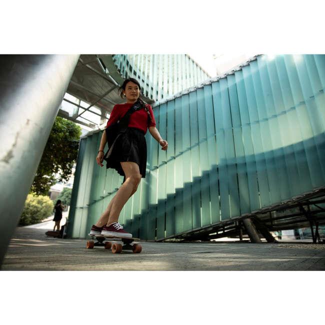 Кеды Кеды для катания на скейтборде или лонгборде, хороший комфорт и контроль доски  с верхом из канвы и вулканизированной подошвой .