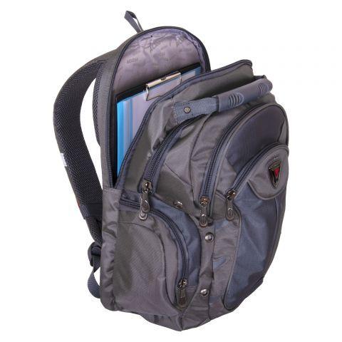 Рюкзак Практичный рюкзак серого цвета идеально подойдет как для учебы, так и для отдыха. Рюкзак сшит из прочного и непромокаемого материала. Внутреннее отделение вместит в себя не только ноутбук, но м
