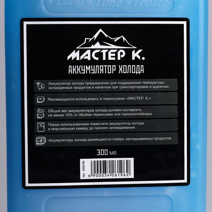 "Аккумулятор холода ""Мастер К"", 300 мл, в твёрдой упаковке, 19х10х2 см"
