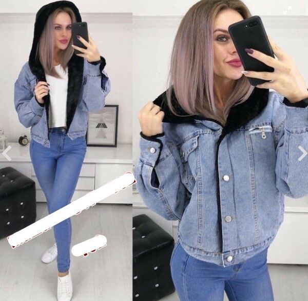 Куртка Утепленная джинсовая куртка. В размер.
