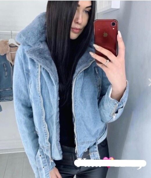 Куртка Утепленная джинсовая куртка. Распродажа.