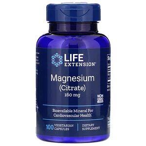 Life Extension, Магний (цитрат), 160 мг, 100 вегетарианских кап