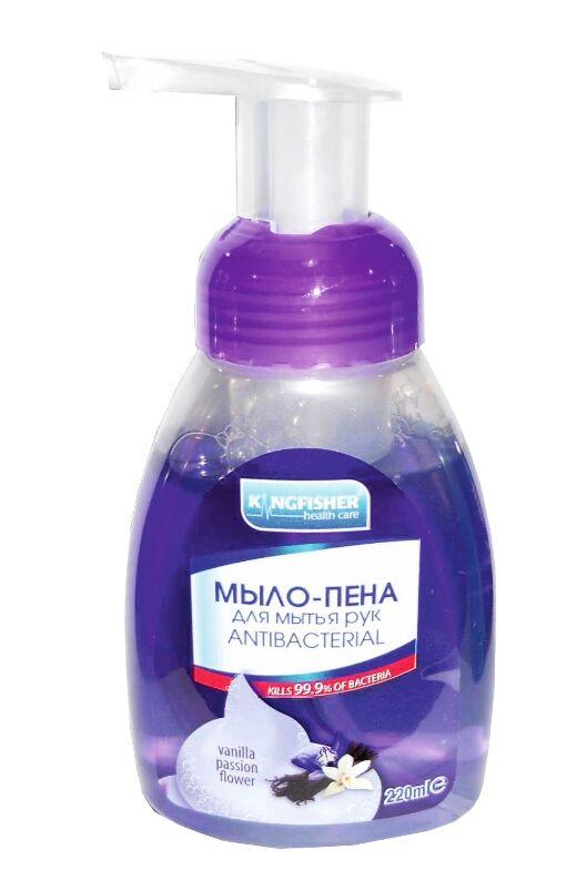 Жидкое мыло-пена KINGFISHER  д/рук антибак VANILLA PASSION FLOWER 220 мл
