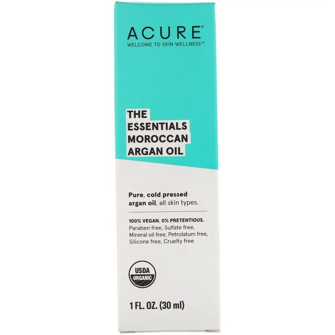 Acure Organics, The Essentials, марокканское аргановое масло 30 мл