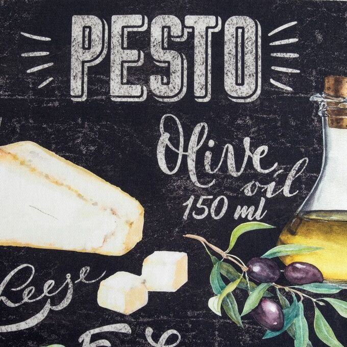 "Полотенце ""Этель"" Pesto 40х70 см, 100% хл, саржа 190 гр/м2"