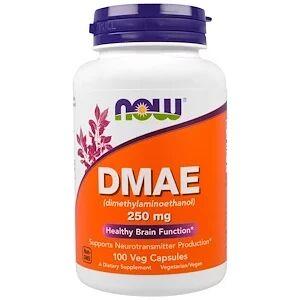 Now Foods, ДМАЭ, 250 мг, 100 растительных кап.