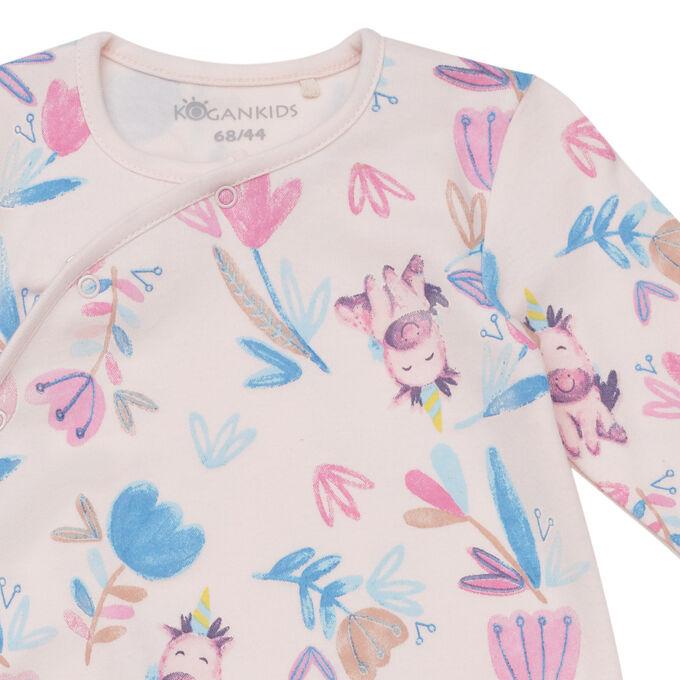 Комбинезон для девочки, св.розовый набивка цветы