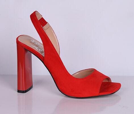 L0021-01-5А красный (Т/Иск.кожа) Туфли летние открытые женские 10п во Владивостоке