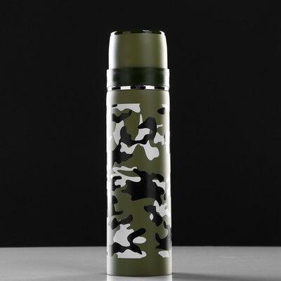 """Термос """"Солдат"""", 500 мл, сохраняет тепло 12 ч, микс, 6.5х6.5х24.5 см"""