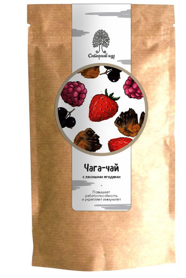 Чайный напиток Чага-чай с лесными ягодами / CraftTea / 70 г