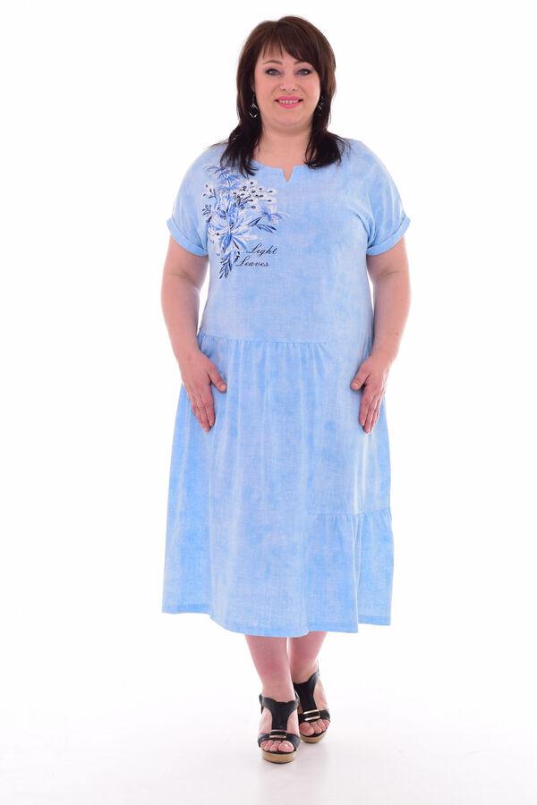 Платье женское 4-69б (светло-голубой)