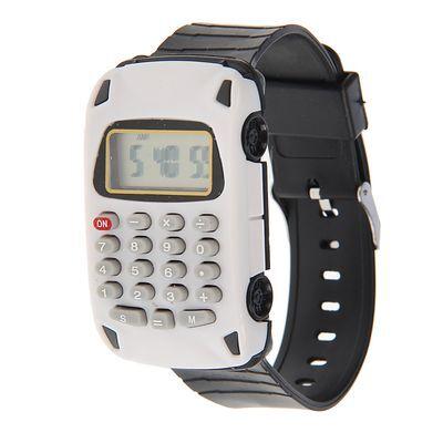 """Часы наручные детские """"Машинка"""", электронные, ремешок силикон, с калькулятором, микс l=22 см"""