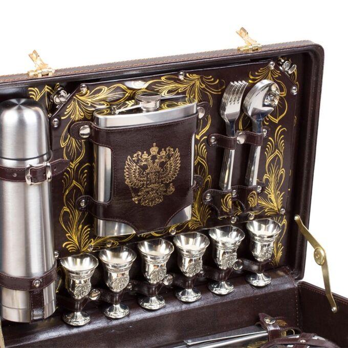 Набор подарочный «Престиж» (6 персон с золотистой росписью)