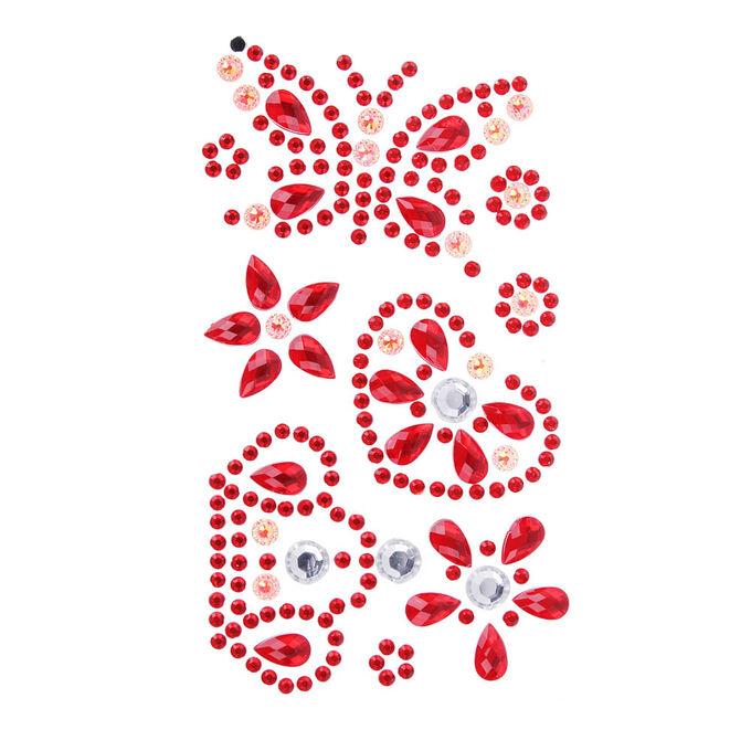 LADECOR Наклейка Блеск, ПВХ, 17х8см, 5-7 цветов, арт.75-04