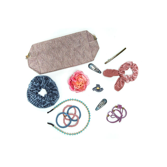 BERIOTTI Набор резинок для волос 2шт, полиэстер, пластик, 4,5см, 6 цветов, РВ-05