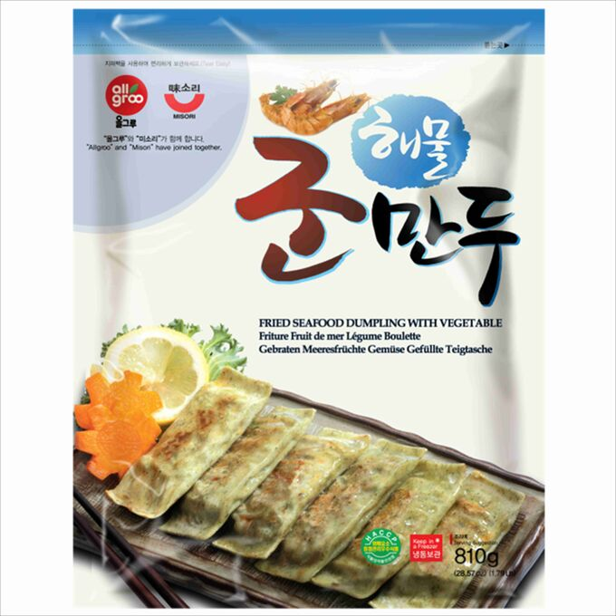 Дамплинги с морепродуктами для жарки, 800 грамм. Южная корея.