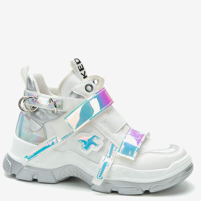 807830/01-01C белый иск.кожа/текстиль женские ботинки во Владивостоке