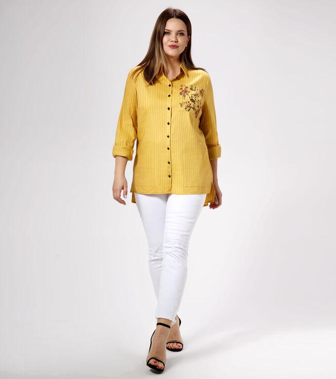 Блузка Лён/linen 50%; вискоза/viscose 44%; полиэстер/polyester1%; эластан/elastane5%.Рост: 164 см. Стильная льняная рубашка выполнена из натурального льняного полотна с добавлением эластана. Воротник