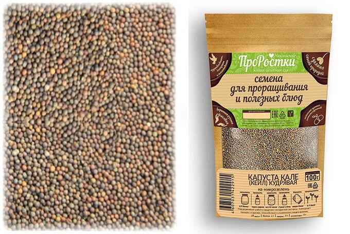 Кале (кейл) кудрявая семена микрозелени, 100 г