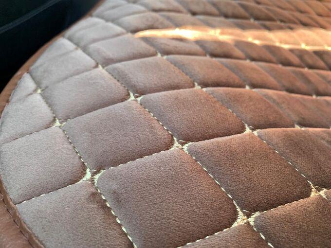 Накидки на сиденья премиум Алькантара полный комплект шоколад