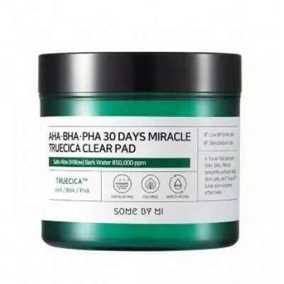 Some By Mi AHA BHA PHA 30 Days Miracle Truecica Clear Pad - Тонкие очищающие пэды 70шт